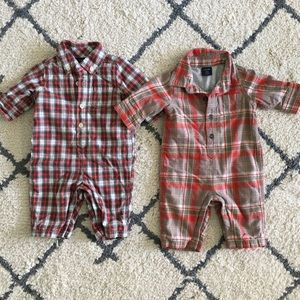 Lot of 2 Baby Boy Gap plaid Outfits